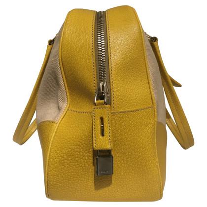Prada Linen/leather handbag