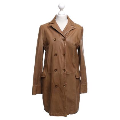 Closed cappotto di pelle in ocra