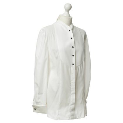 Armani Smokingbluse in Weiß