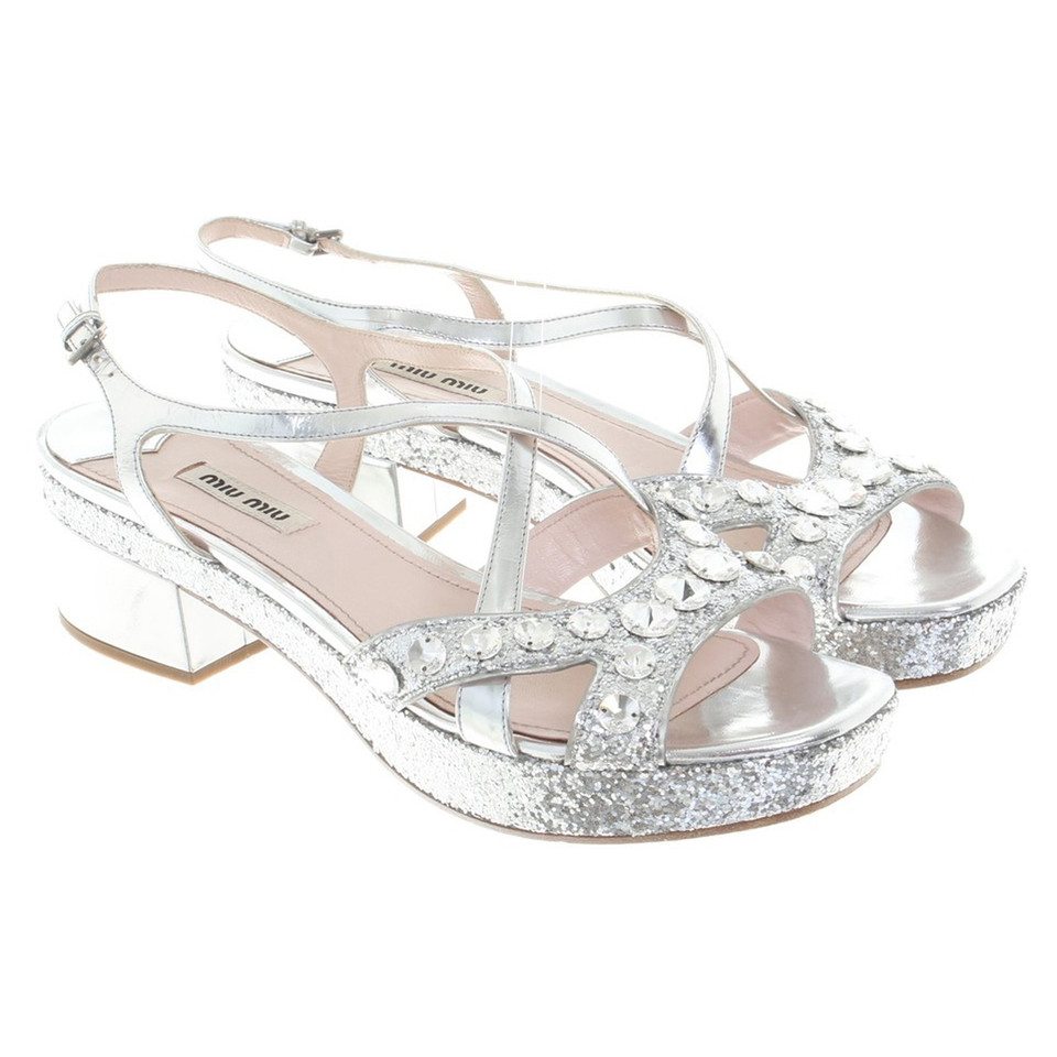 Miu Miu Silver colored sandals