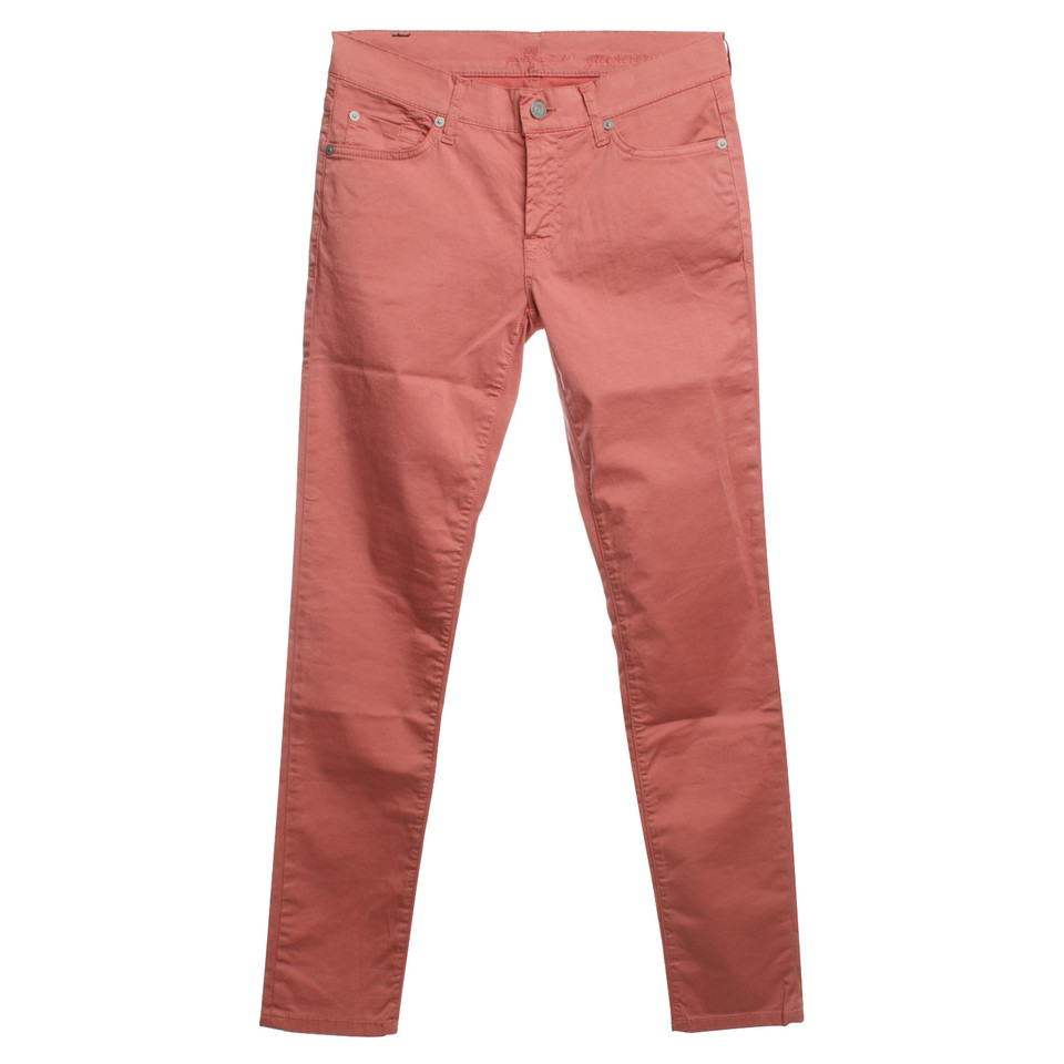 7 For All Mankind trousers in bright coral red