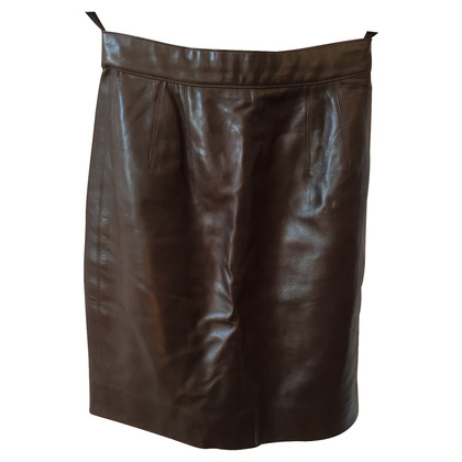 Christian Dior skirt in leather