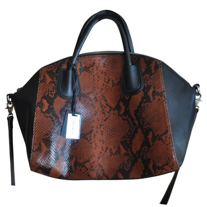 Coccinelle Handbag with snakeskin embossing