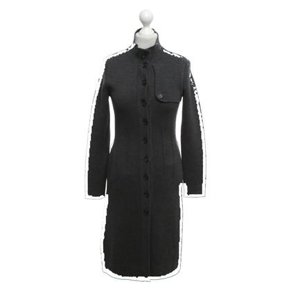 Rena Lange Cappotto lavorato a maglia in grigio