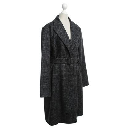 Hugo Boss Coat in black / grey / light blue