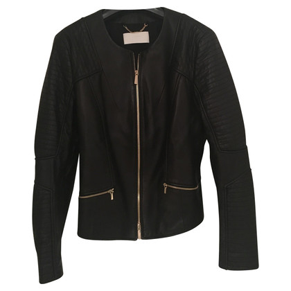 Hugo Boss The biker-style leather jacket
