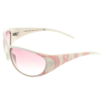 Dolce & Gabbana Zonnebril in Roze / Wit