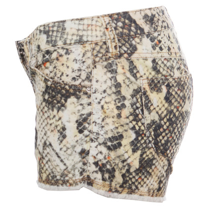 Isabel Marant pantaloncini di velluto a coste in stampa serpente