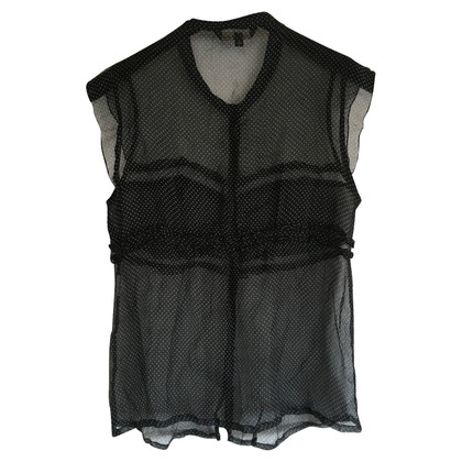 Tara Jarmon Short sleeve blouse in black and white