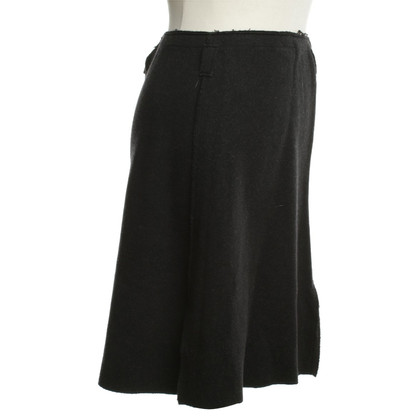 Giorgio Armani Wool skirt in dark gray