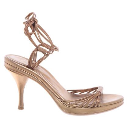 Sergio Rossi Golden sandals