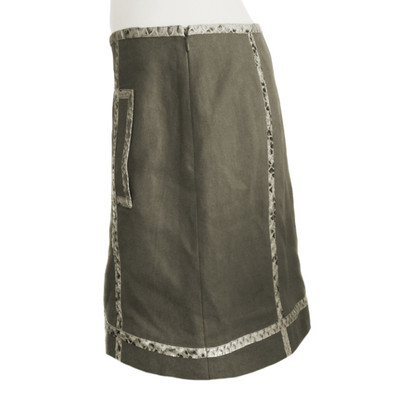 Michael Kors skirt with python leather elements
