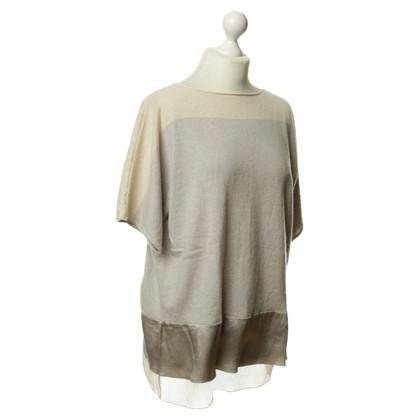 Fabiana Filippi Maglione di cashmere manica corta grigio