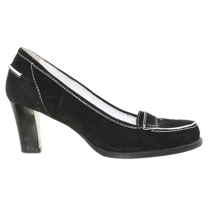 Céline Wildleder-Pumps
