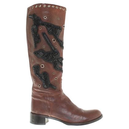 Prada Leren laarzen in bruin