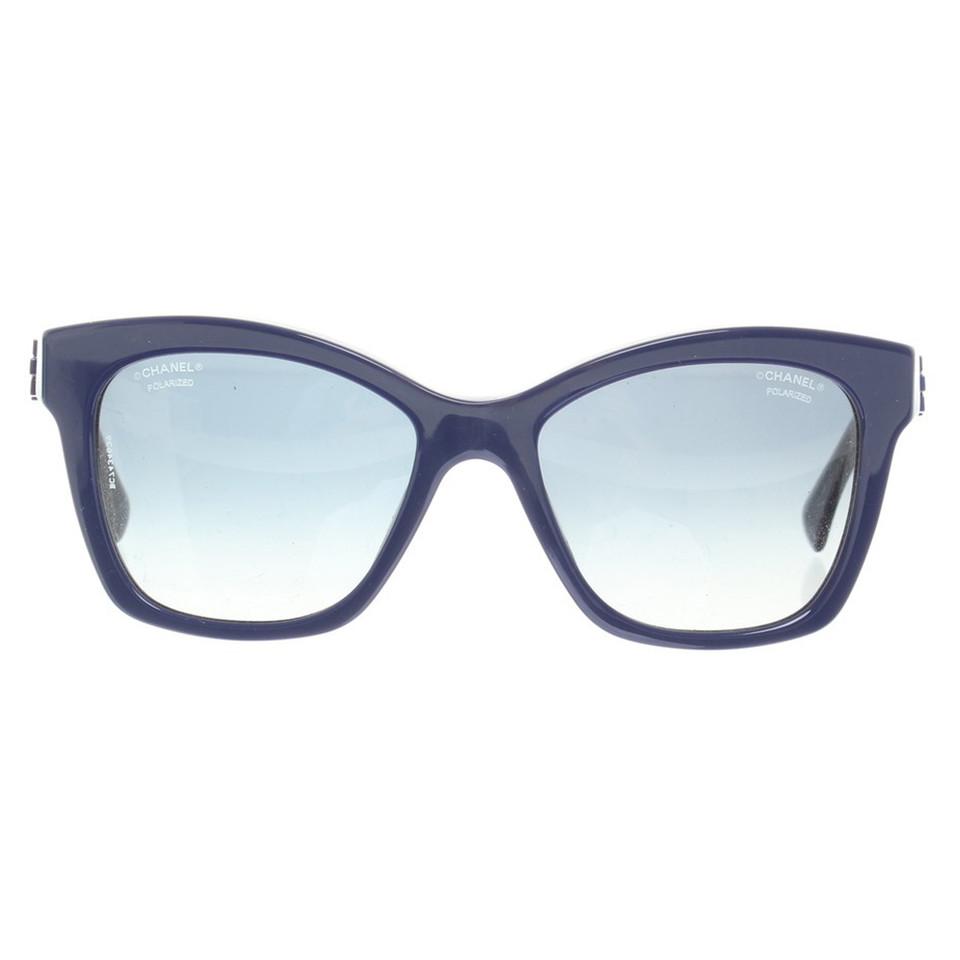 chanel sonnenbrille in blau second hand chanel. Black Bedroom Furniture Sets. Home Design Ideas