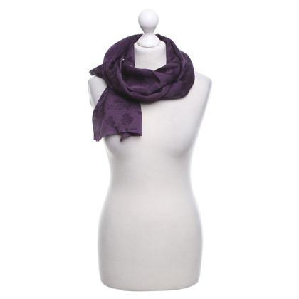 Armani sciarpa di seta in viola