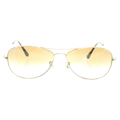 "Ray Ban Zonnebril ""Cockpit"" in goud"
