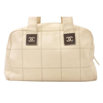 Chanel CHANEL witte kaviaar huid hand Tas