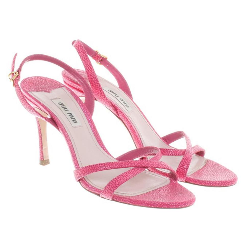 Miu Miu Sandals in pink