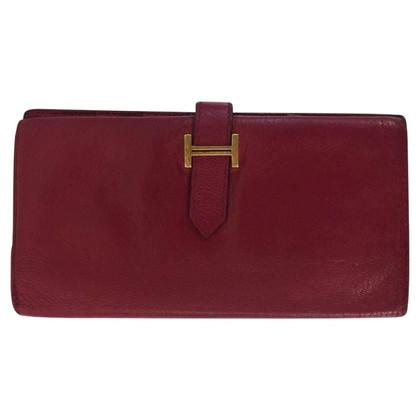 Hermès Rosso scuro portafoglio