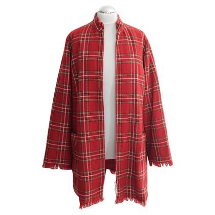 Marina Rinaldi Giaccone Tartan leggero in lana
