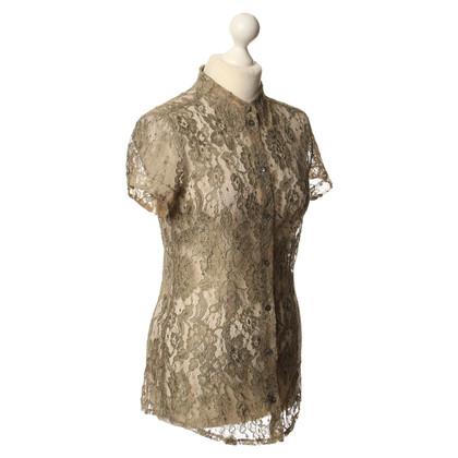 Dolce & Gabbana Lace blouse in olijfgroen