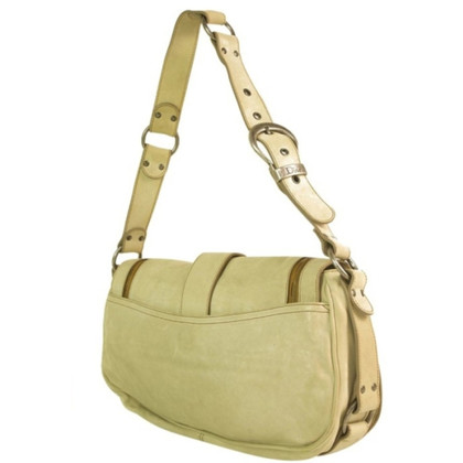 Christian Dior Christian Dior Gaucho crema Saddle Bag