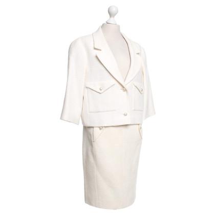 Chanel vestito bouclé in crema