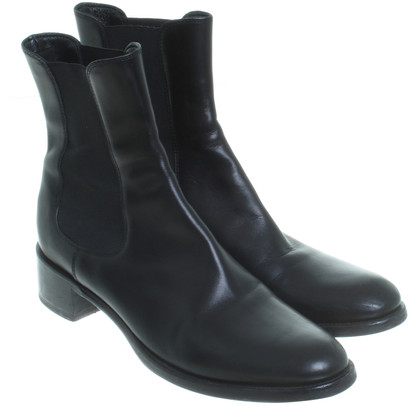 Jil Sander Chelsea laarzen in zwart