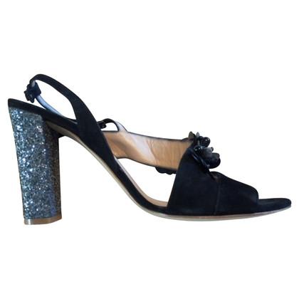 Twin-Set Simona Barbieri Sandals with glitter heel