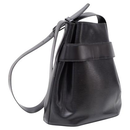 Louis Vuitton Sac Depaule PM Borsa in pelle nera Epi