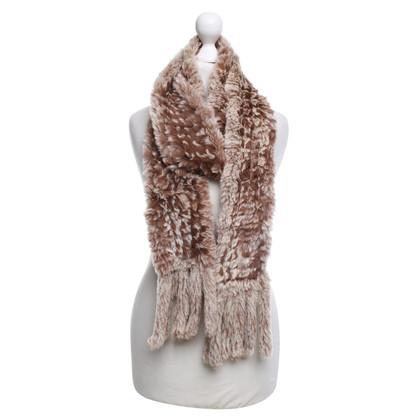 Furry Fur scarf in bicolour
