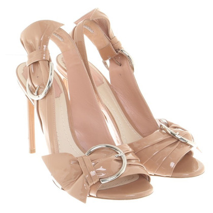 Christian Dior Peeptoes in Nude