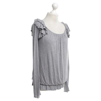 Patrizia Pepe Jersey shirt with Ruffles