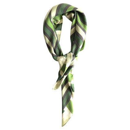 Yves Saint Laurent Zijden sjaal met gestreept patroon
