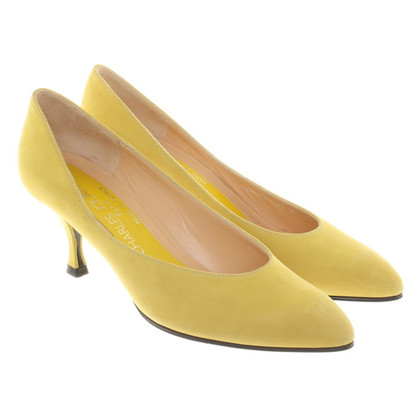 Jourdan pumps in yellow