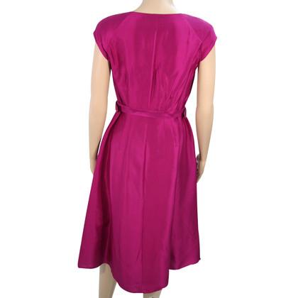 L.K. Bennett zijden jurk in Violet