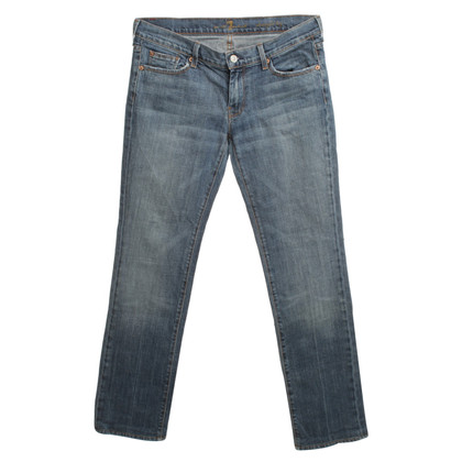 "7 For All Mankind ""Straight Leg"" Jeans in Blue"