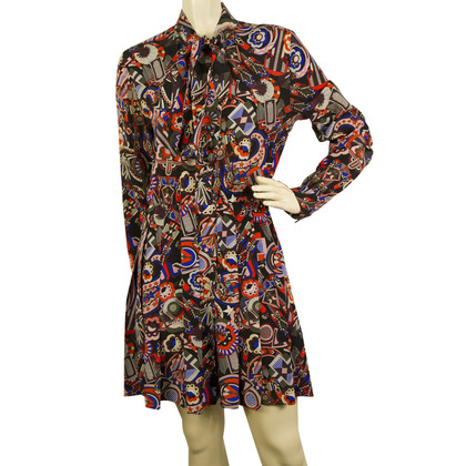 MSGM Multicolored Silk dress