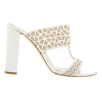 Alexander McQueen Mules in White / nude