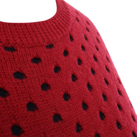 Claudie Pierlot Wollpullover in Rot/Blau Andere Farbe Spielraum Heißen Verkauf Zu Verkaufen Bekommt Einen Rabatt Zu Kaufen Kaufen Neueste zl1Rz7L8