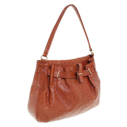 Furla Ostrich leather handbag