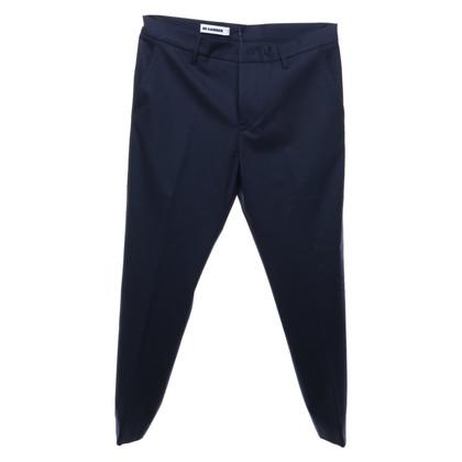 Jil Sander Pantalone 3/4 in blu