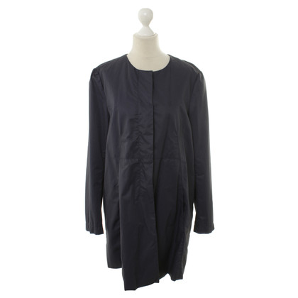 René Lezard Easy coat in dark blue