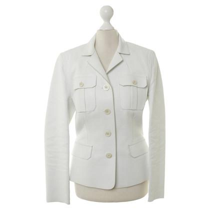 Gucci Leren jas wit