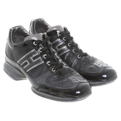 Hogan Sneaker in mix di pelle nera