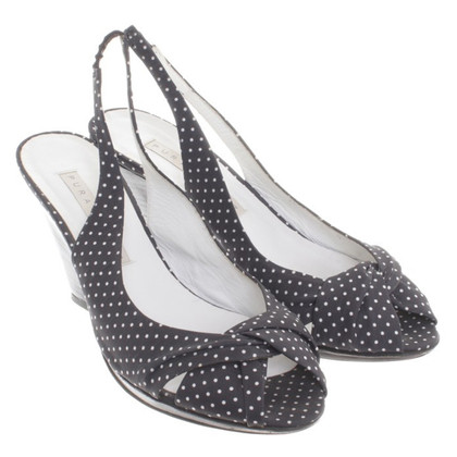 Pura Lopez Sling-backs with dot pattern