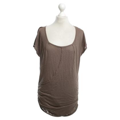 Velvet T-shirt in brown