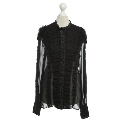Givenchy Silk blouse with tulle and rhinestones